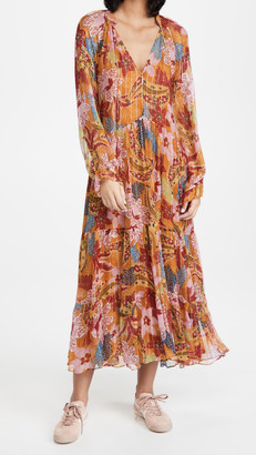 Farm Rio Banana Floral Maxi Dress