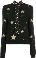 RED Valentino star neck-tie jumper - women - Silk/Polyamide/Viscose/Wool - S