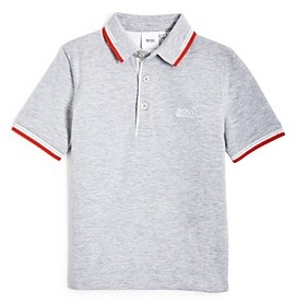 HUGO BOSS Boys' Embroidered Short Sleeve Polo Shirt - Little Kid, Big Kid