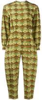 Tata-Naka Tata Naka - printed open back jumpsuit - women - Silk - 10