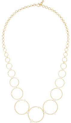 Fernando Jorge Aerial Loops Diamond & 18kt Gold Drop Necklace - Gold