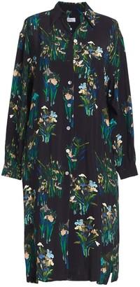 AILANTO Black Lilies Shirt Dress