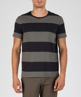 Atm Classic Jersey Crew Neck Tee - Olive Drab Rugby Stripe