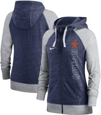 Nike Women's Navy Houston Astros In Pocket Gym Vintage Full-Zip Hoodie