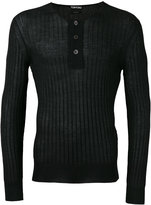 Tom Ford superfine long sleeved henley - men - Silk/Cashmere - 52