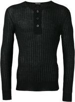 Tom Ford superfine long sleeved henley - men - Silk/Cashmere - 52