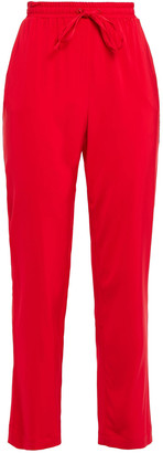 Love Moschino Cropped Printed Jersey Track Pants