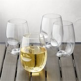 Crate & Barrel Govino ® Shatterproof Plastic Stemless Wine Glass Set of 4