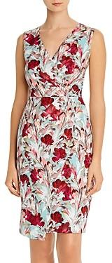 Black Halo Avilla Floral Faux-Wrap Dress