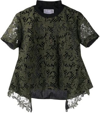 Sacai lace layered T-shirt