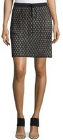 See by Chloe Drawstring-Waist Lace Skirt, Black
