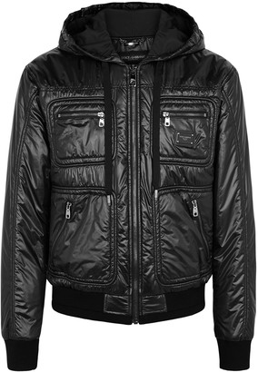 Dolce & Gabbana Black hooded shell jacket