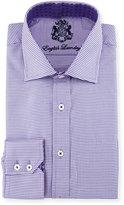 English Laundry Mini-Check Woven Dress Shirt, Purple
