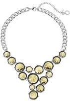 Simply Vera Vera Wang Yellow Round Stone Asymmetrical Statement Necklace