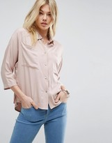 Asos Batwing Slouchy Shirt with Pockets
