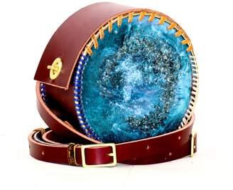 Minay Bleu Bird Resin Leather Backpack