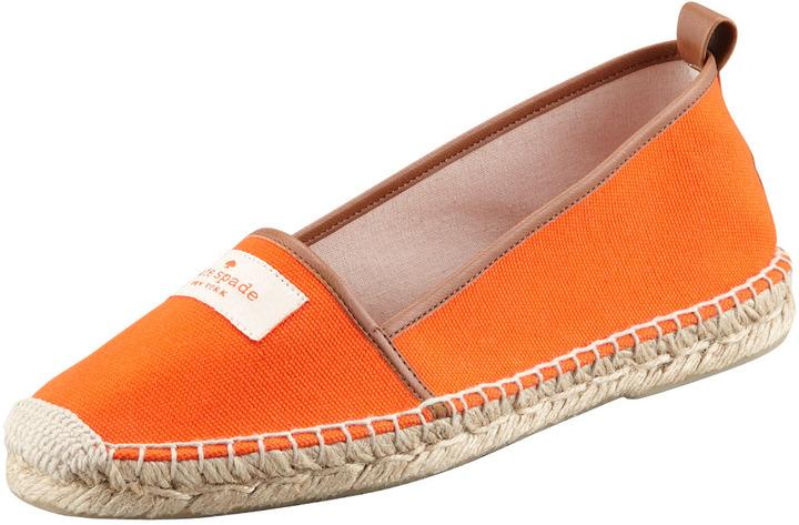 Kate Spade Lara Logo Espadrille Flat, Orange