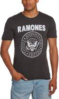 Amplified Mens Classic Charcoal Ramones Logo T Shirt from