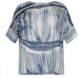 Marina Rinaldi Striped Silk Top
