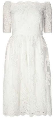 Dorothy Perkins Womens Ivory 'Arabella' Bardot Wedding Dress, Ivory