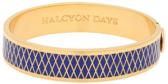 Halcyon Days Gold And Enamel Parterre Bangle