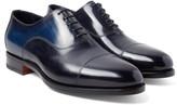 Santoni - Burnished-leather Oxford Shoes