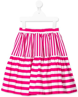 MonnaLisa striped A-line skirt