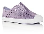 Native Girls' Jefferson Glitter Bling Waterproof Slip-On Sneakers - Toddler, Little Kid