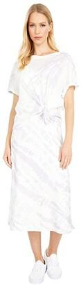 AllSaints Knot Tie-Dye Dress (Lavender) Women's Clothing