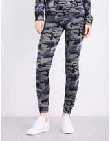 Sundry Camouflage-print skinny jersey jogging bottoms