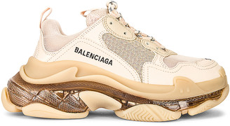 Balenciaga Triple S Clear Sole Sneakers in Nude | FWRD