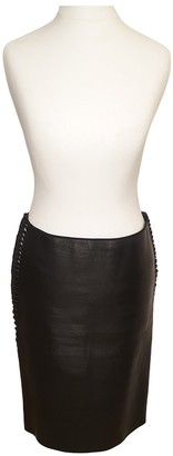 Dion Lee Black Leather Skirt for Women