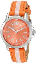 Tommy Bahama RELAX Women's 10018371 Island Breeze (Air) Stainless Steel Watch with Orange Nylon Band