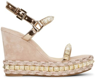 Christian Louboutin Pira Ryad 110 suede wedge sandals