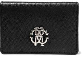 Roberto Cavalli Logo-embellished Textured-leather Wallet