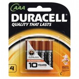 Duracell Coppertop AAA 4 pack