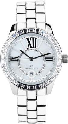 Monti Carlo Cosenza Women's Quartz Watch with White Dial Analogue Display and White Stainless Steel Bracelet CMZ01-181