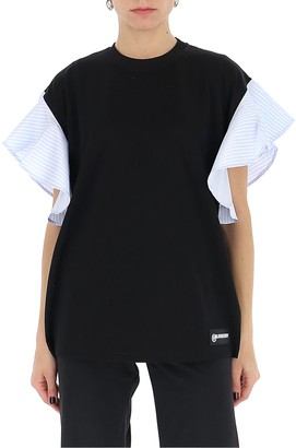 Burberry Ruffled Sleeve T-Shirt
