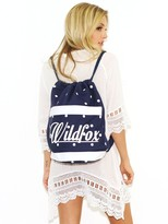 Wildfox Couture Swim 60's Polka Dot Beach BackPack in Eclipse