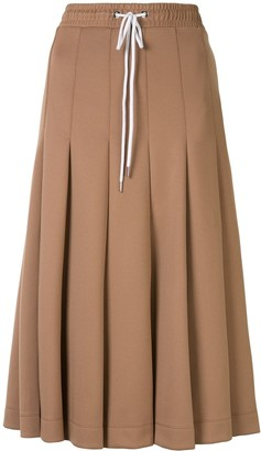 Markus Lupfer Pleated Midi Skirt