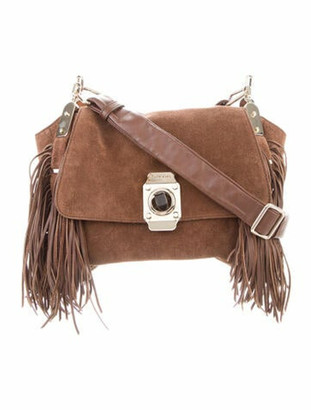 Celine Suede Dimitri Hobo bag Brown