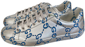 Gucci Ace Silver Patent leather Trainers