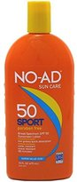 NO-AD Sport Active Sunscreen Lotion, SPF 50 16 oz (Pack of 3)