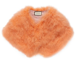 Gucci Ostrich feather cape