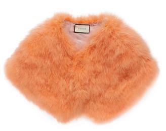 Gucci Ostrich feather cape