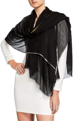 Bindya Accessories Wool Shiny Stripe Stole