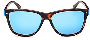 Polaroid Men's Mirrored Square Sunglasses, 56mm