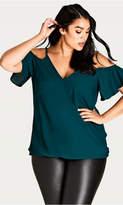 City Chic Emerald Simple Elegance Top