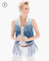 Chico's Denim Fringe Vest