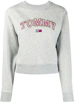 Tommy Jeans logo embroidered long-sleeved sweatshirt